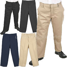 School Uniform Pants Boys Flat front adjustable Waist Uniforms Pant