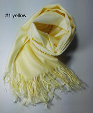 Soft pashmina solid wrap gradient color scarf/shawl buy 4 get 1