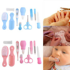 10X/set Infant Baby Health Care Kit Nail Hair Thermometer Grooming Nurse Sets EB