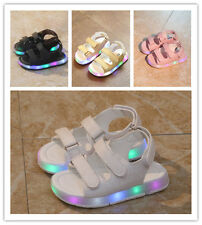 Boys Girls LED Light Up Children Sandals Baby Shoes Breathable Sneakers Shoes