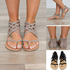 Summer Women Straps Sandals Flat Sexy Sandals Comfortable Breathable Non-slip