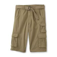 Canyon River Blues Boys Cargo Shorts Belted Ripstop Solid size 8 10 12 14 NEW
