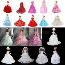 Various Fashion Style Princess Wedding Party Tube Dress Hat ACCS for Barbie Doll
