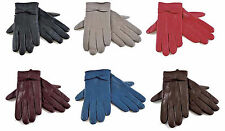Tom Franks Ladies Thermal Lined Super Soft Fine Leather Warm Winter Gloves
