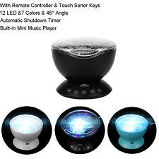 12 LED And 7 Colors Lamp Remote Control Ocean Wave Projector Nightlight