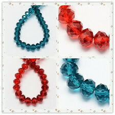 Handmade Glass Beads Imitate Austrian Crystal Faceted Abacus 8x6mm 72pcs/strand