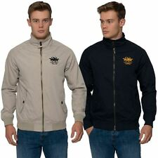 Santa Monica Polo Club Mens Zip Up Jacket Buttoned Funnel Neck Light Weight Coat