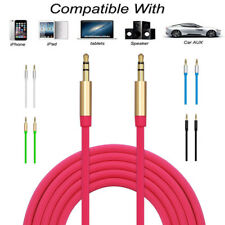 3.5mm Metal Shell Car AUX Auxiliary Cord Male to Male Audio Cable For PC MP3 Car