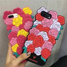 3D Rose Flower Soft Silicone Floral Phone Case Cover For iPhone 6 6s 7 Plus