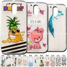 Cute Cover Skin Painted Back TPU Rubber Soft Case For Motorola Moto G4/G4 Plus