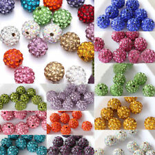 20 Czech Crystal Rhinestones Pave Clay Round Disco Ball Spacer Bead 10mm