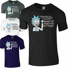 Rick & Morty Comedy T-Shirt, Waaay Up Your Butthole Men's Funny T-Shirt