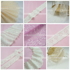 10 Yards Accessories Stretch Guipure Lace Trim Bridal Wedding White Nude