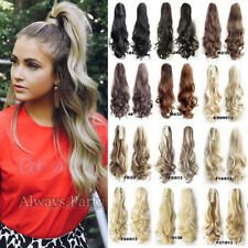 Real Jaw/Claw On Ponytail 100% Thick Clip In Hair Extensions Ponytail Brown AP