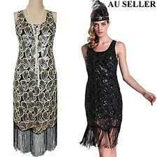 Womens Ladies 20s Sequin 1920 Gatsby Flapper Evening Cocktail Party Mini Dress