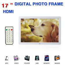 """17"""" HD LCD Digital Photo Picture Frame MP3 Remote Control + 2G Memory Card"""