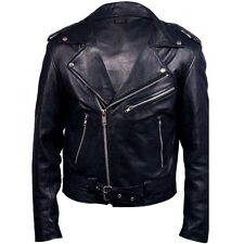 Ghost Rider Nicolas Cage Motorcycle Retro Motorbike Leather Jacket - All Sizes
