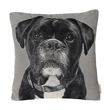 Mika Home Jacquard Dog Animal Style Throw Pillow Cases Sofa Cushion Covers for