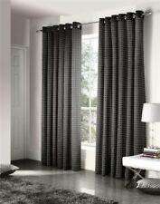 SAVOY BLACK GOLD EMBROIDERED CHAIN LINK LINED RING TOP CURTAINS #ZTIR AS