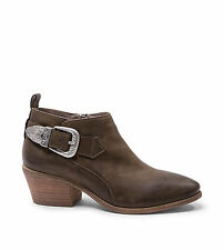 NIB Steve Madden Womens Green/Cognac Leather Boots  Ankle Booties,$129