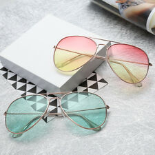 Unisex Womens Mens Vintage Retro Aviator Ombre Color Sunglasses Glasses Eyewear
