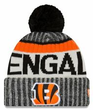 New Era NFL Onfield Cincinnati Bengals Bobble Knit Beanie Hat