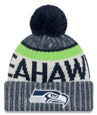 New Era NFL Onfield Seattle Seahawks Bobble Knit Beanie Hat