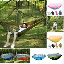Outdoor Camping Mosquito Net Hammock Hanging Sleeping Bed Swing with Tree Straps