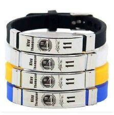 Klay Thompson Basketball Bracelet Silicone Stainless Steel adjustable Wristband