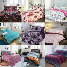 Printed Duvet Covers All Size Bedding Sets Pillow Cases Floral Stag Text Check