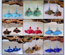 TURTLE Fetish Animal Critter Gemstone Earrings * Your Choice of stone