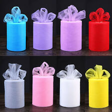 """6"""" Wide x100Yd Tulle Fabric Roll Spool Wedding Party Bow Decoration Craft Skirt"""