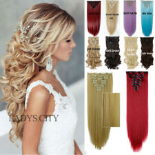 Real Thick,24-26 Inch,8Pcs Full Head Clip In Hair Extensions,Brown Black Blonde