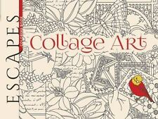Adult Coloring: ESCAPES Collage Art Coloring Book by Marty Noble (2016, Paperba…