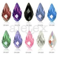 10pcs 12x6mm Teardrop Loose Faceted Crystal Beads Charms Jewelry DIY