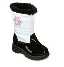 Totes Girls Boots Tracy Faux Fur Man Made Zipper White Toddler size 5 6 7 NEW