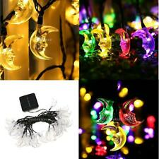 Solar Power Moon String Fairy Lights Christmas Lighting for Outdoor Garden Decor
