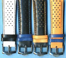 4 Colors 20mm Genuine Perforated Leather Rally Racing Strap & Heuer Buckle p TAG