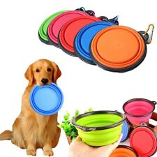 Collapsible Pet Dog Cat Feeding Bowl Travel Portable Silicone Water Dish Feeder