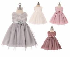 New Baby Girls Lace Dress Pageant Wedding Christmas Party Holidays Birthday 9015