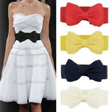 Women Bowknot Bowknot 1 Pcs Elastic Fashion Waist Belt Stretch Lady Waistband