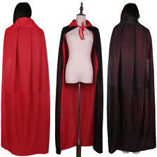 Gothic Reversible Wizard Witch Devil Cloak Cape Halloween Costume Adult Kids