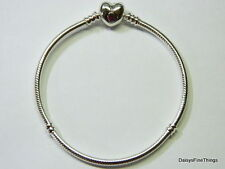 NEW! AUTHENTIC PANDORA BRACELET HEART CLASP 590719-21CM/8.3IN  BOX INCLUDED