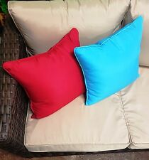 Set of 3 Outdoor Showerproof Scatter Cushions Garden Furniture Cushions