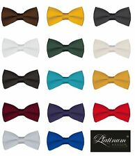 Classic Solid Color Men's Adjustable Pre Tied Formal Bow Tie Tuxedo Bowtie