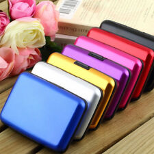 Aluminum Portable Pocket Case Waterproof Business ID Credit Card Wallet Holder