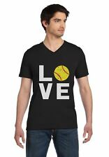 Love Softball - Gift for Softball Fans V-Neck T-Shirt Softball Player