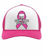 Breast Cancer Awareness - Pink Ribbon For Someone Special Trucker Hat Mesh Cap