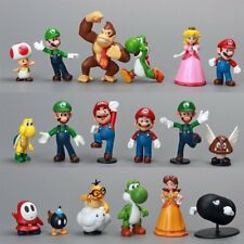 18Pcs/Set Super Mario Bros Figure Toy Doll Pvc Figure Collectors Kids Gift