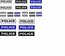24 x police wording DECALS IDEAL FOR  CODE 3 MODELs etc Cararama & Hongwell